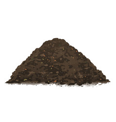 Heap organic compost ground isolated vector