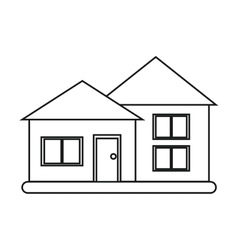 house suburban architecture green grass outline vector image