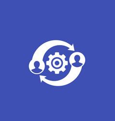 Hr management icon vector