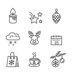 icons drawn in black and white vector image