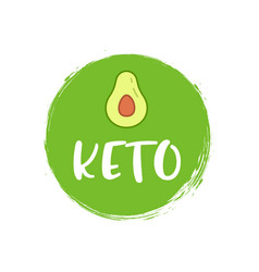 Keto diet icon logo ketogenic approved sign vector