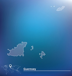 Map of Guernsey vector image