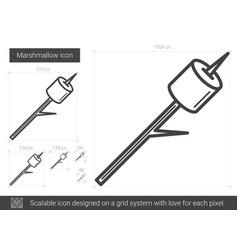 marshmallow line icon vector image