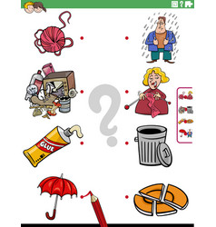 match people characters and objects educational vector image
