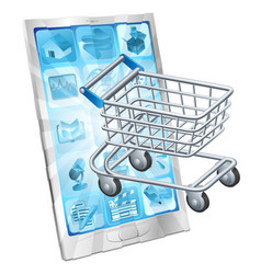 mobile shopping app concept vector image