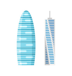 Modern city skyscraper buildings isolated vector