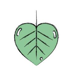 Natural leaf symbol to conservation the vector