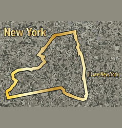 New york in stone vector