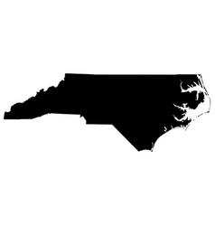 north carolina nc state border usa map solid vector image