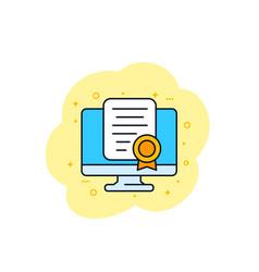 Online certification vector