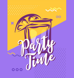 party time with cool design stock vector image