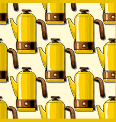 Pattern with coffee machines vector