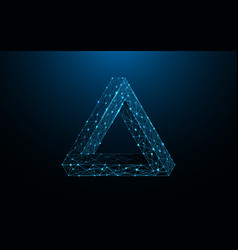 Penrose triangle form lines and particle vector