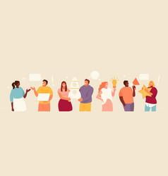 People team communication vector