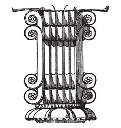 Persian architecture are volutes of a capital at vector