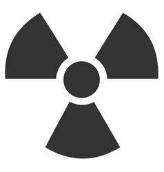 Radioactivity flat icon vector