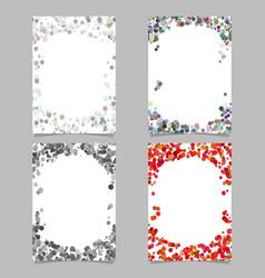 Random dot background round brochure border vector