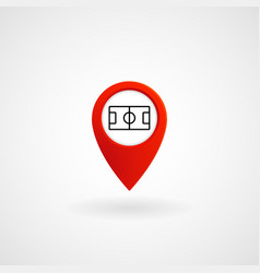 red location icon for stadium eps file vector image