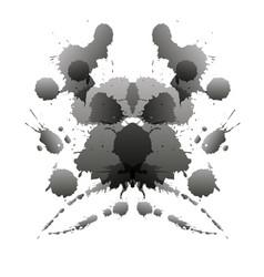 Rorschach test card vector