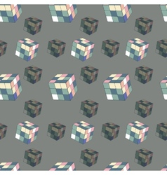 Seamless background of colored cubes vector