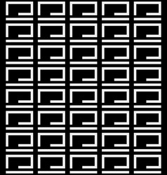 Seamlessly repeatable black and white geometric vector