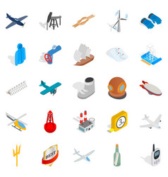 Security icons set isometric style vector