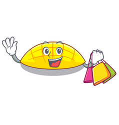 shopping mango slices on the over cartoon vector image