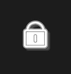Smart lock concept line icon simple element vector