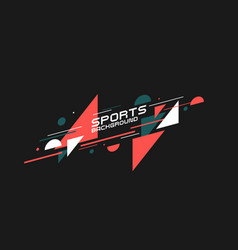 Sports poster abstract background with dynamic vector