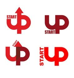 Start UP set logo Emblem to start business vector image