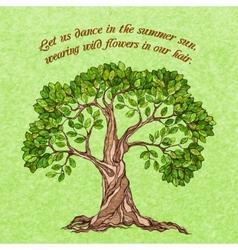 Summer tree poster vector