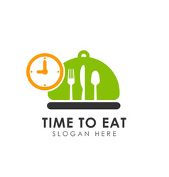 time to eat logo icon design vector image