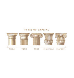 types capital classical order vector image