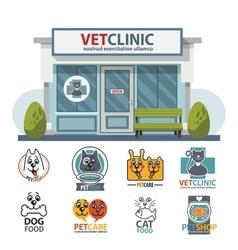 Veterinary medicine hospital clinic or pet shop vector image vector image