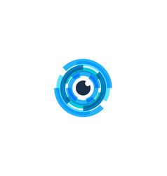 vision letter o logo icon design vector image