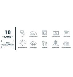 web development icon set include creative vector image