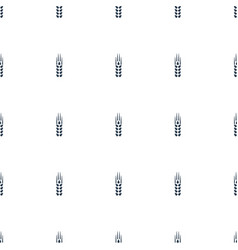 Wheat icon pattern seamless white background vector