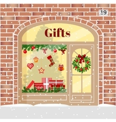 Christmas Gifts shop presents store vector image vector image