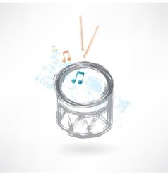 grey drum grunge icon vector image