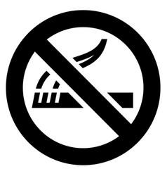 no smoking black sign vector image vector image