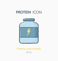 sport nutrition icon isolated on white vector image vector image