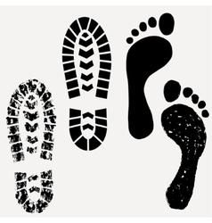 Footprint shoes print vector