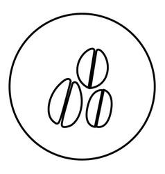 monochrome contour circular frame with coffee vector image vector image