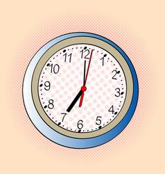 pop art wall clock vector image