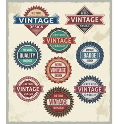 Set of retro vintage badge and label design set vector image vector image