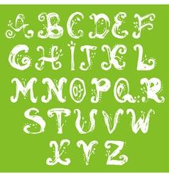 Hand drawn foliage alphabet vector image vector image