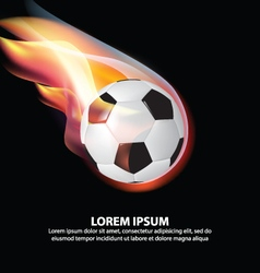 Isolated Soccer Ball or Football on Fire Flame vector image vector image