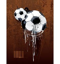 Liquid graffiti football vector image vector image
