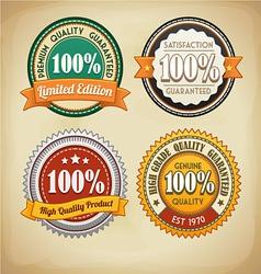 Retro Badges Set vector image vector image