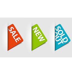 cards for new sale and sold out items vector image vector image